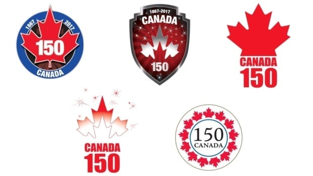 The original proposed Canada 150 logos