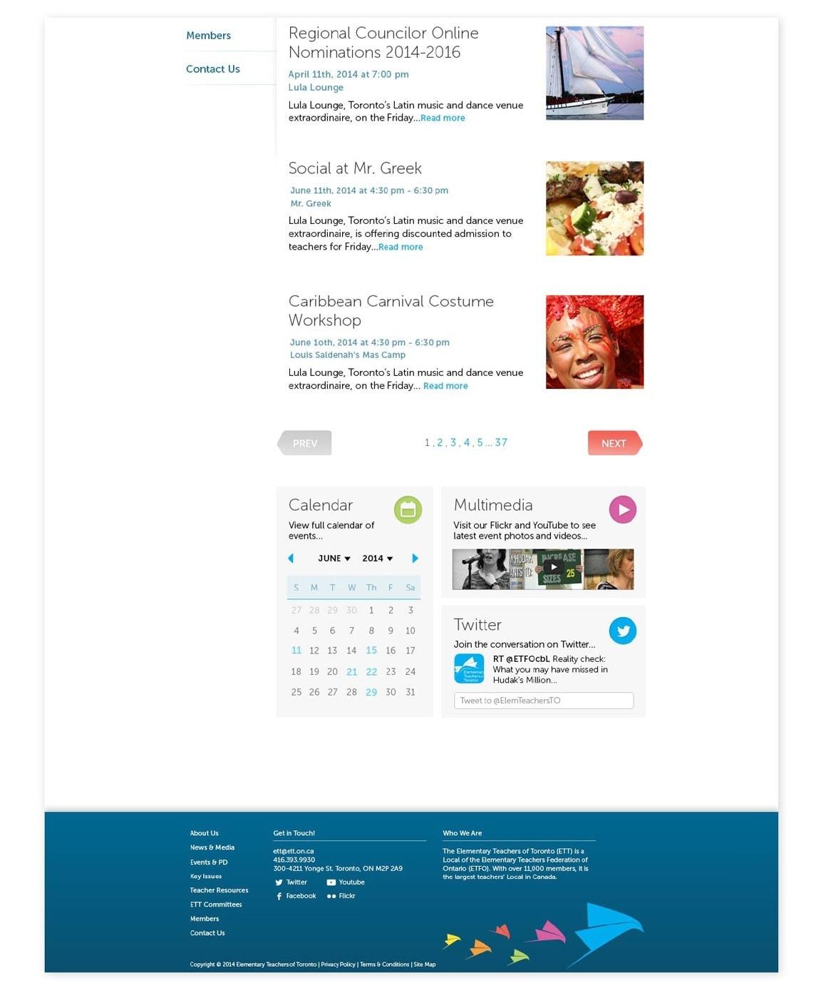 ETT homepage